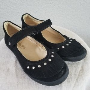 **Black Suede Mary Jane with Studs